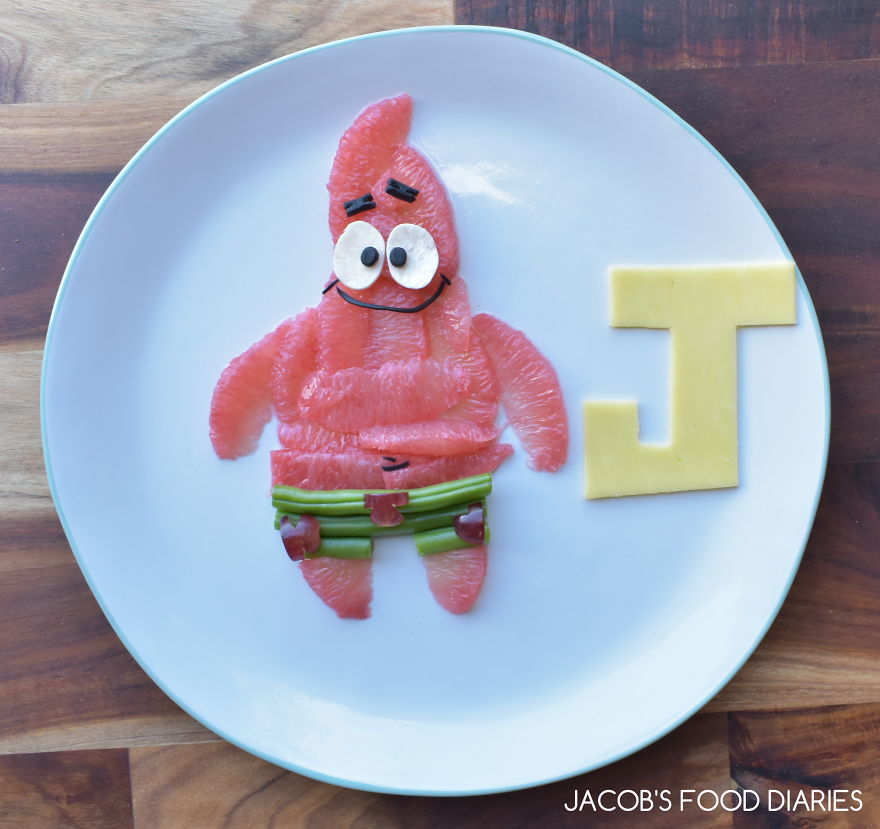 Patrick From Spongebob Squarepants - Fruit And Cheese Snack