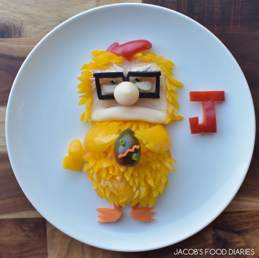 Carl Fredrickson Dressed A Chicken For Easter - Chicken With Mash Potato And Yellow Capsicum