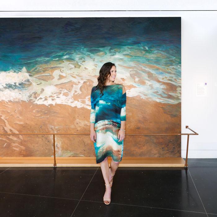 Jennifer Bartlett en el museo de arte Crocker en Sacramento, CA