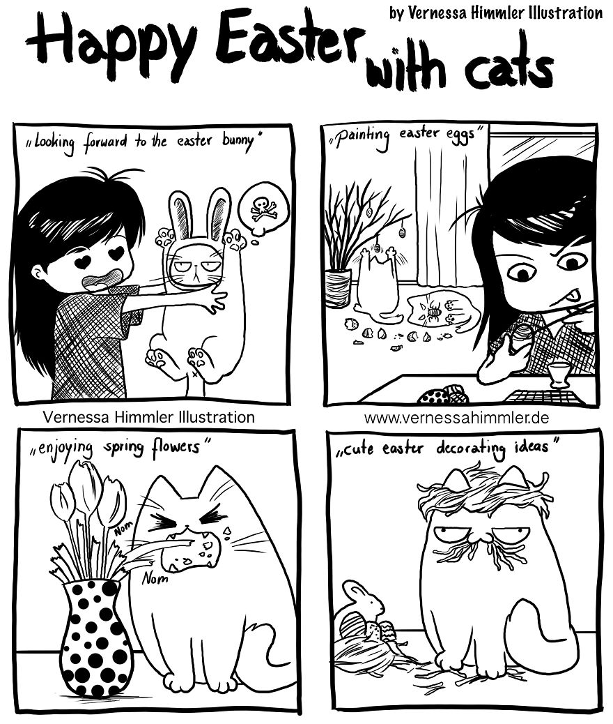 My Diary Comics About My Life With Two Cheeky Cats (part 2)
