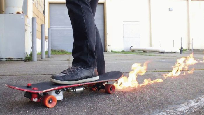 I Made A Flamethrower Skateboard And You Can Make One As Well