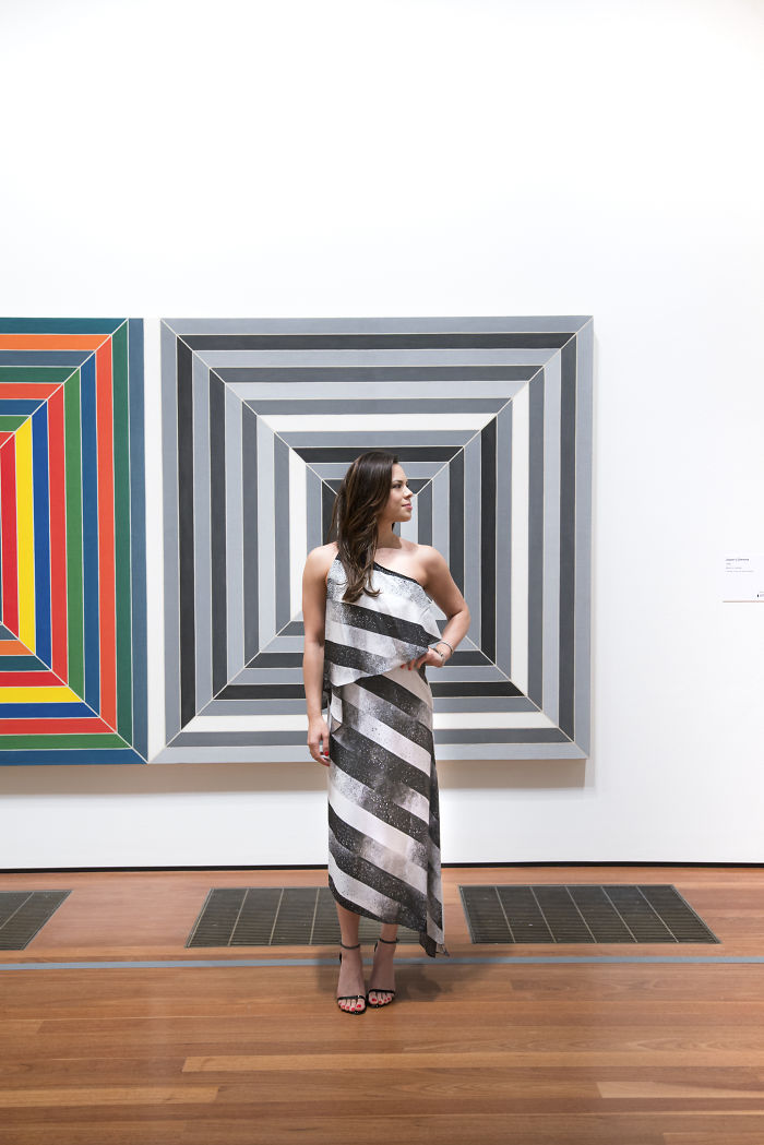 Frank Stella At The De Young Museum In San Francisco, Ca