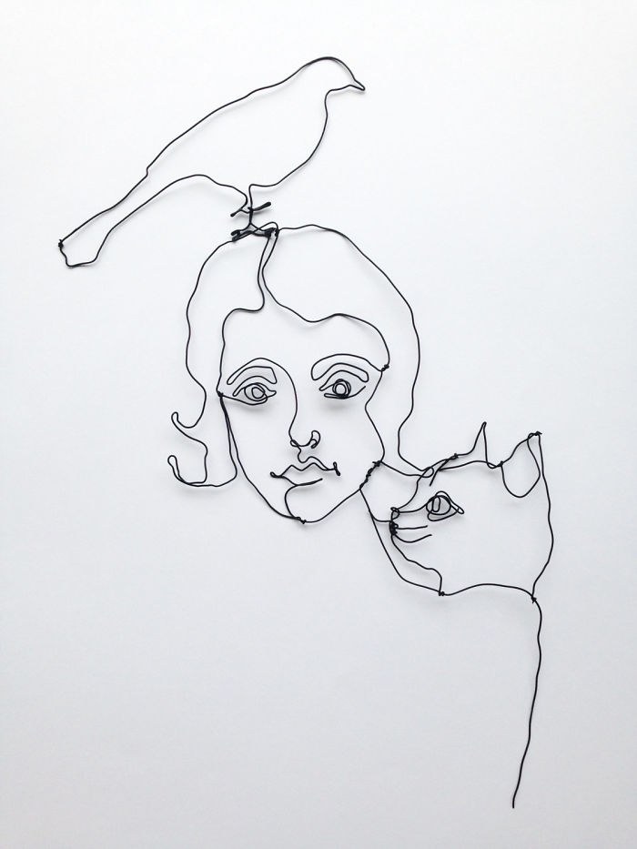 I Make All Kind Of Wire Portraits: Humans, Animals And Plants