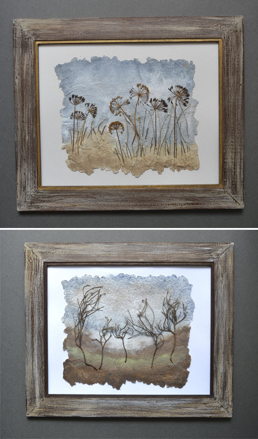 I Use Dried Pressed Plants And Painting To Create Original Artworks