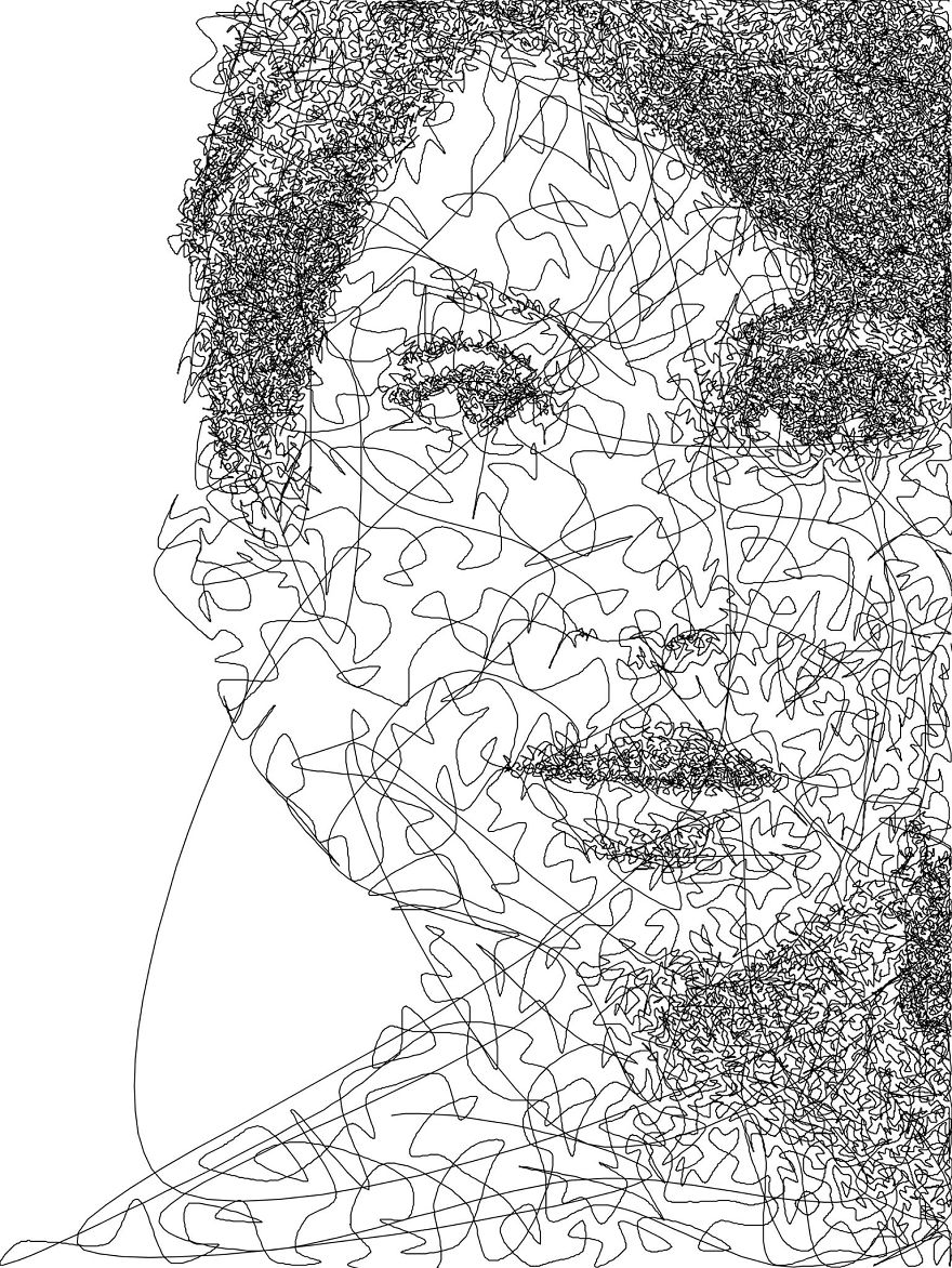Line Drawing Photo : I wrote an algorithm that doodles drawings from a single
