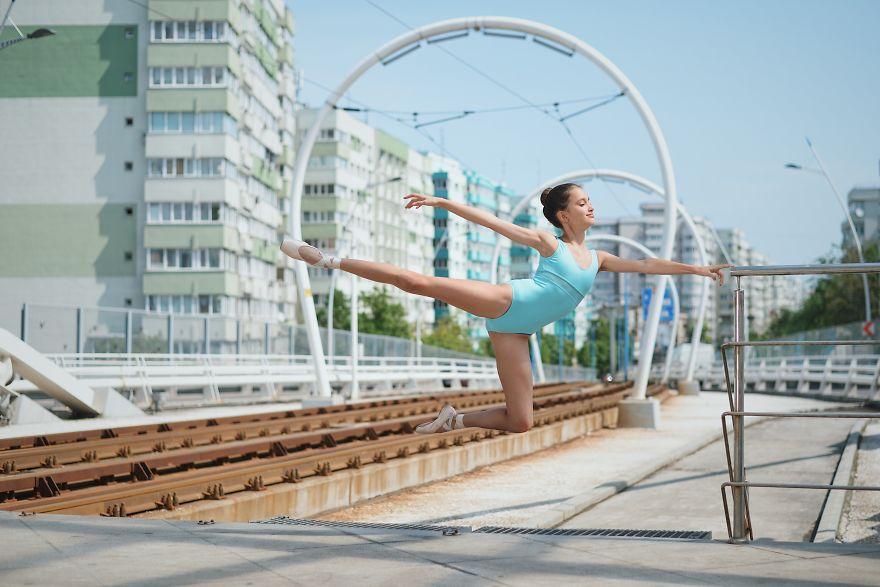 I Captured The Little Ballerina Levitating On The Streets Of Bucharest