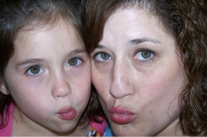 My Daughter And I Making Fish Faces