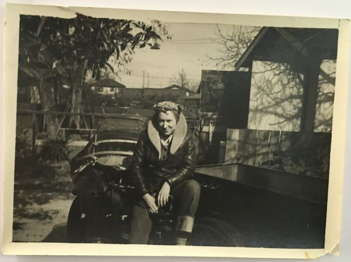 My Grandma On Her Motorcycle W Its Side Car (1934)