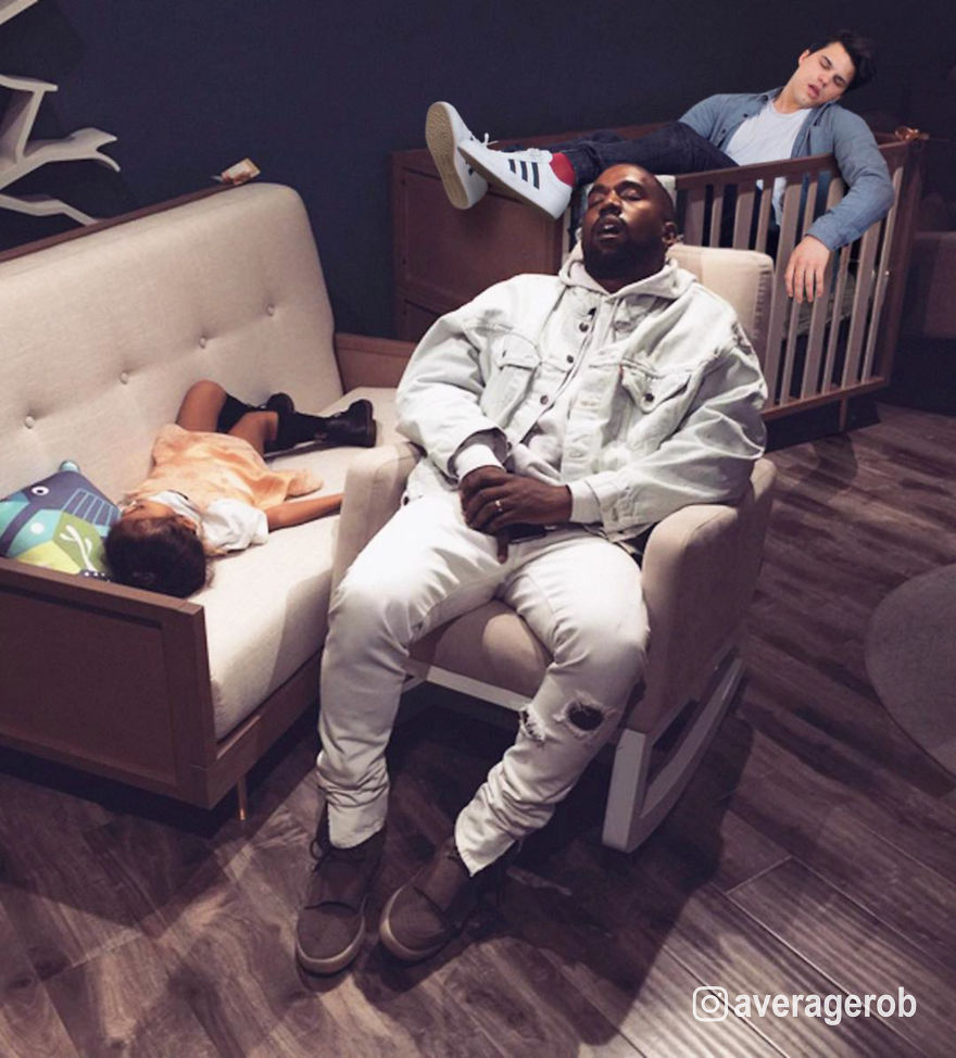 Kanye, North And Rob: Nappers In Paris (single Coming Soon)