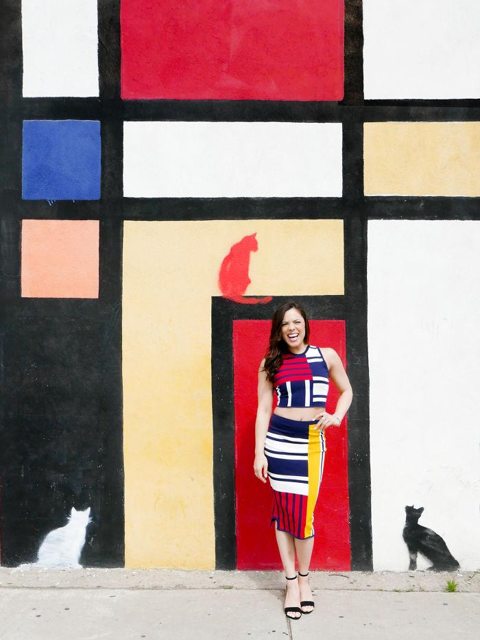 Mondrian Mural At Artist & Craftsman Supply, Los Angeles, Ca