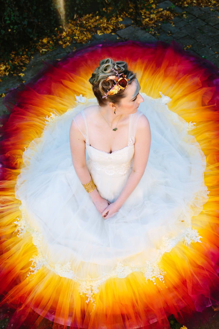 We Spent 61 Hours To Create This Incredible Dipdye Wedding Dress