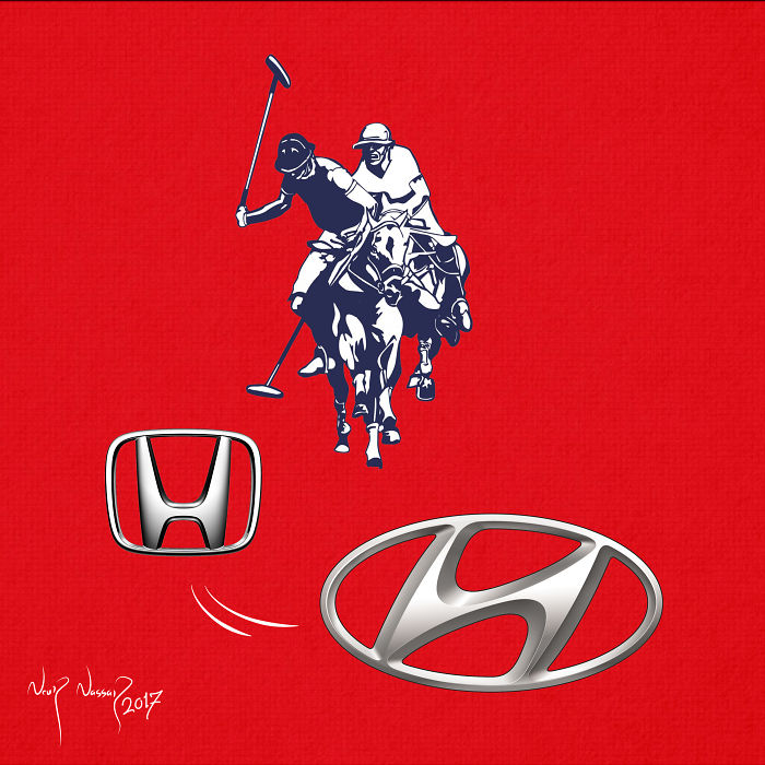 Finally We Knew The Secret Behind The Elegance Of Hyundai. Special Thanks For Creativity Of Polo And Honda