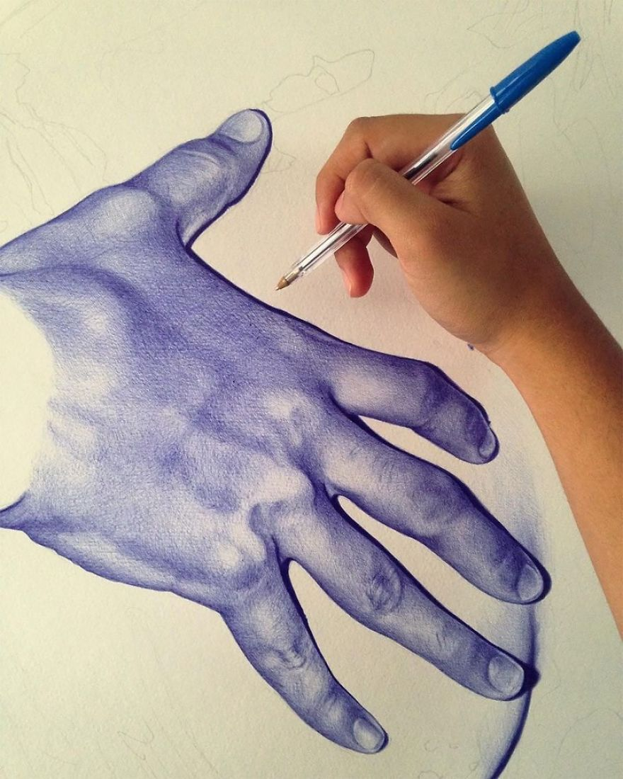 Realistic Drawings With A Ballpoint Pen