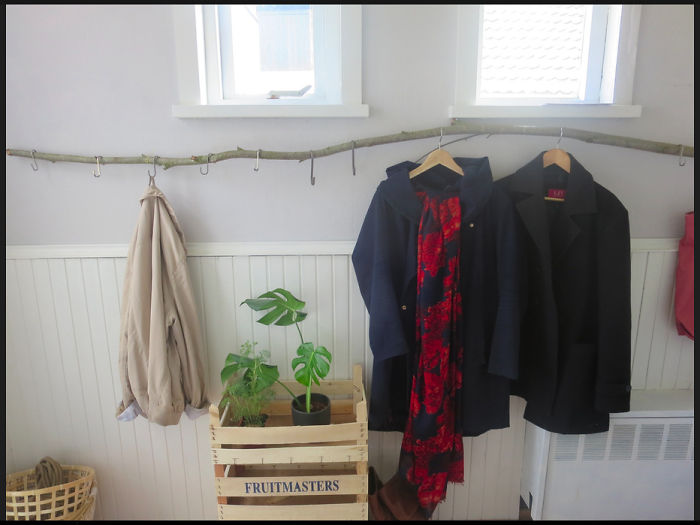 When We Couldn't Find A Cool Coat Rack, We Decided To Ask Nature For A Little Help..