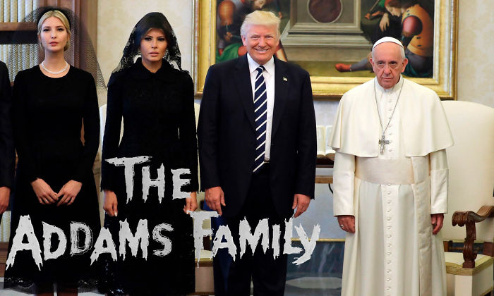 "Meet The Addams; Wednesday, 'tish, Gomez And A Very Depressed Pugsley. ""they're Creepy And They're Cooky, And All Together Ookey"". Click! Click!"
