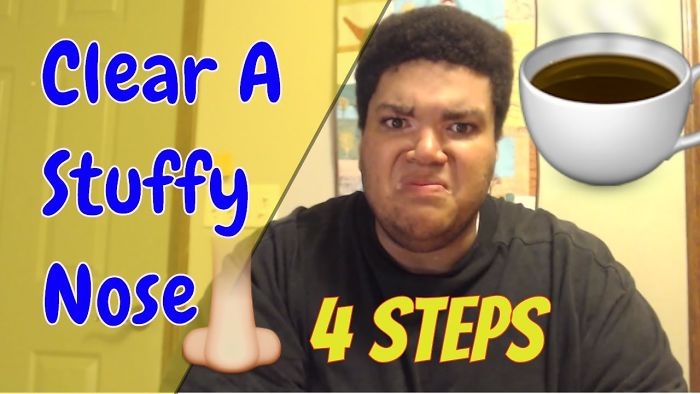 How To Clear A Stuffy Nose: 4 Step Process