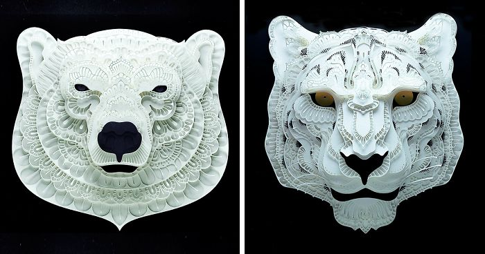 incredibly intricate paper cut