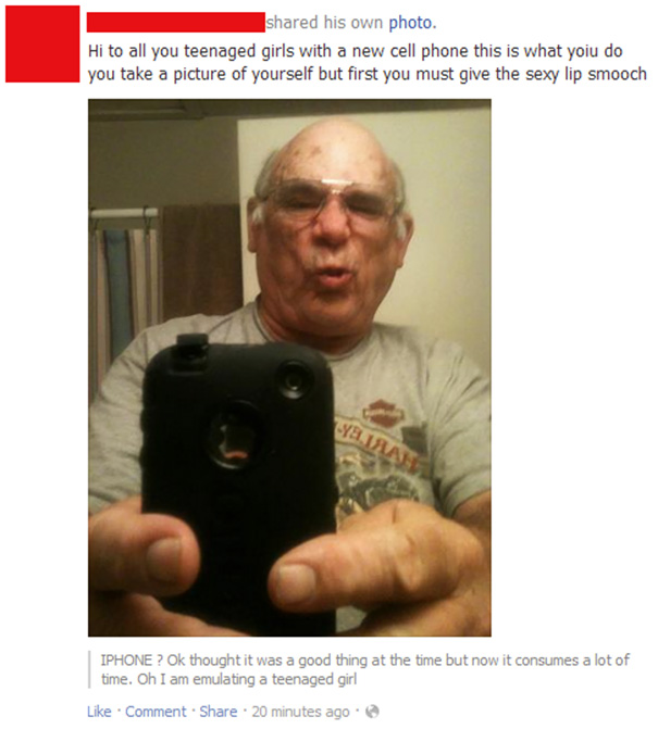 My Grandpa Just Got An Iphone And Fb Account, This Is The Result