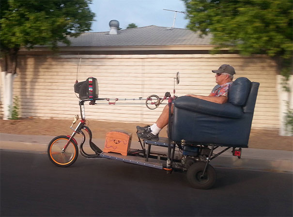 """Saw This Guy """"Driving"""" In My Neighborhood"""