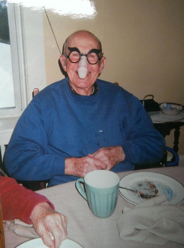 My Grandpa Wearing Penis Nose Glasses Like A Boss