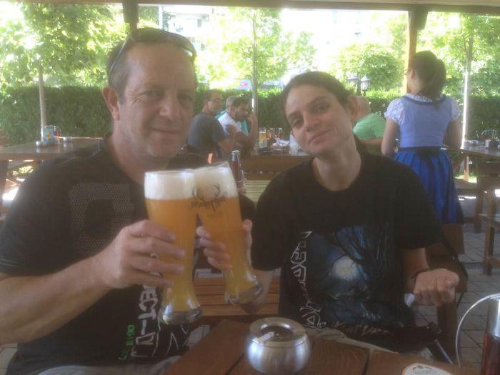Dad (55) & I (28) Same Face, Same Love For Beer.
