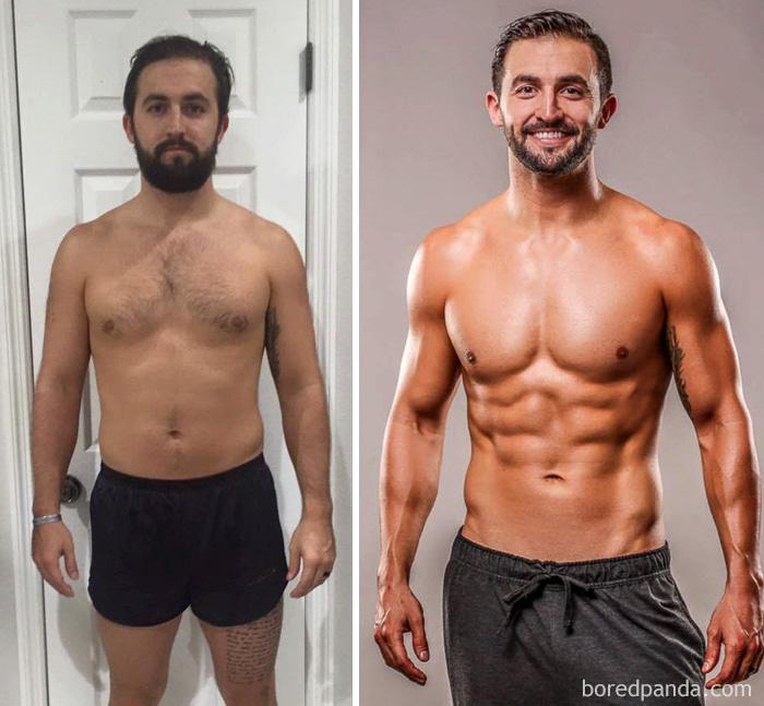 antes y despues del gym 3 meses