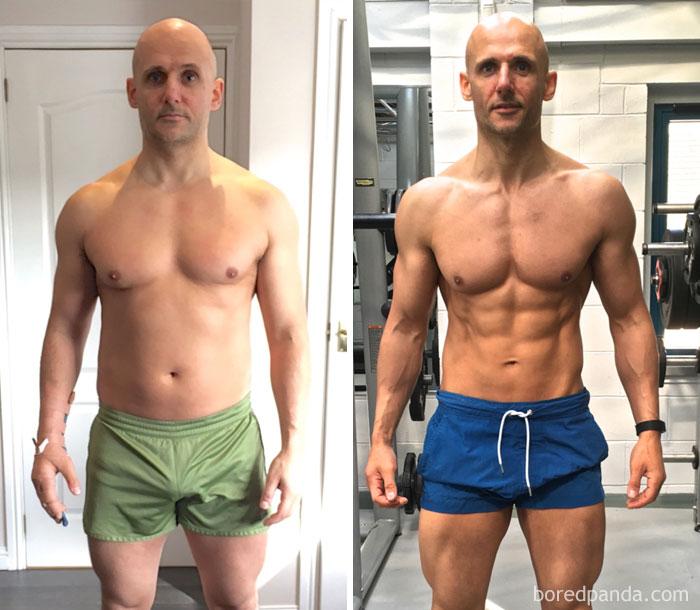 personas antes y despues del gym