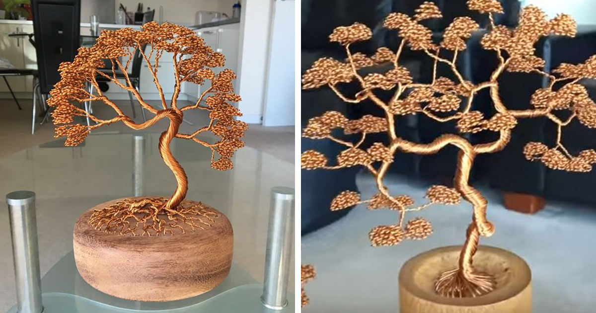 Cool Bonsai Tree Made From Wires Bored Panda Wiring Digital Resources Timewpwclawcorpcom
