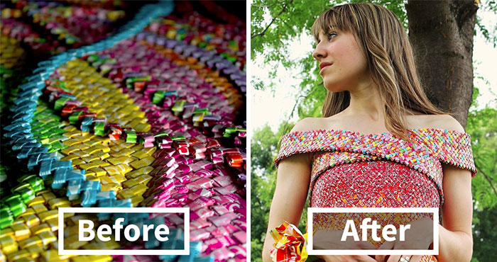 4 Years And 10 000+ Starburst Candy Wrappers Went Into This Dress