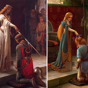 """The Accolade"" By Edmund Leighton"
