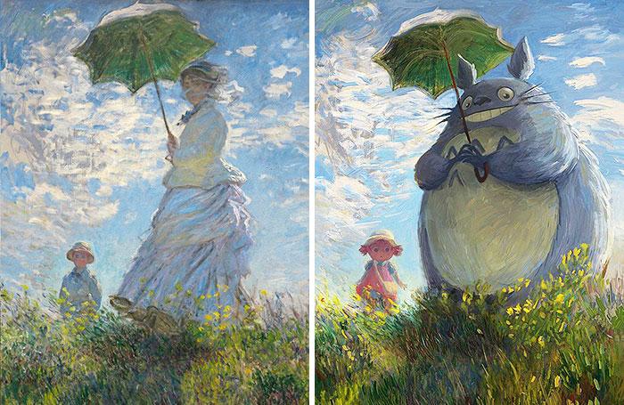 Estos cuadros clásicos han recibido una renovación friki y parecen mejores que los originales