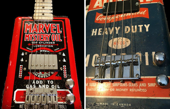 Making Guitars From Old Motor Oil Cans
