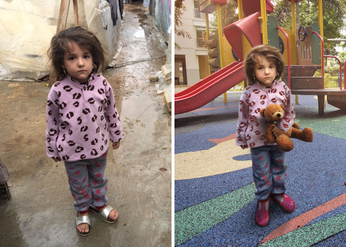 People Are Photoshoping Refugee Zahra Into Different Realities And It's Heartbreaking
