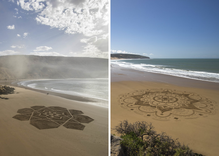 I Create Beach Art Inspired By Arabic Designs And Patterns