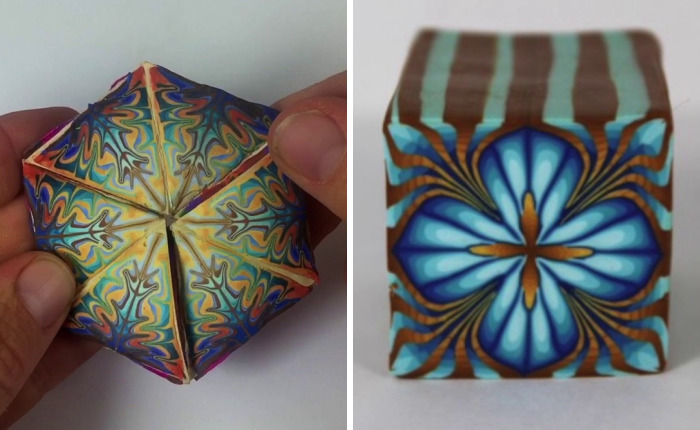 I Made A Tri-Hexaflexagon Out Of Polymer Clay