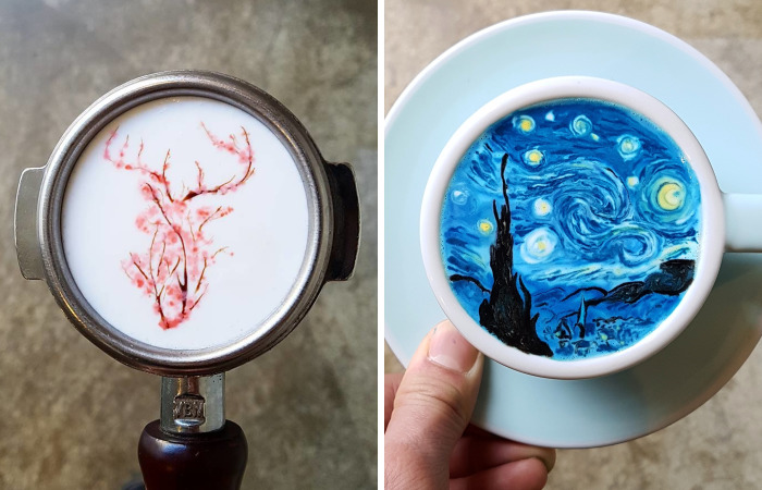 I'm A Barista From Korea Who Creates Art On Coffee