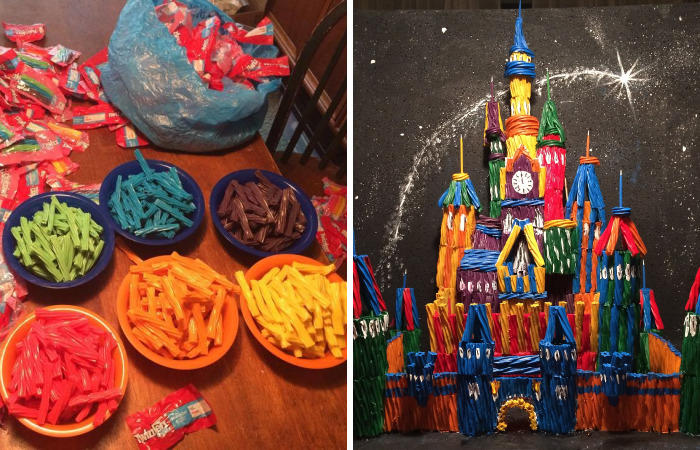 2 Foot Tall Candy Castle Made Out Of Twizzlers