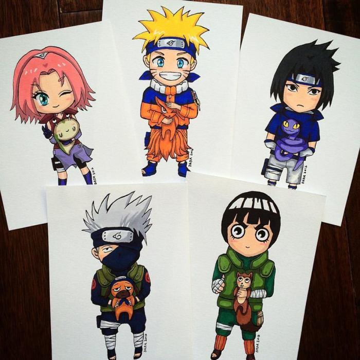 I Drew Main Characters Of The Anime Series Naruto