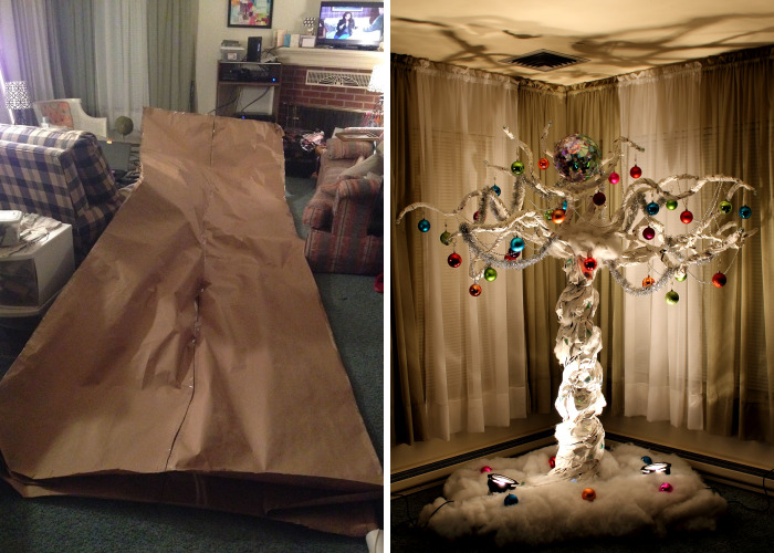 We Made A Christmas Tree Out Of A 15 Foot Paper Bag