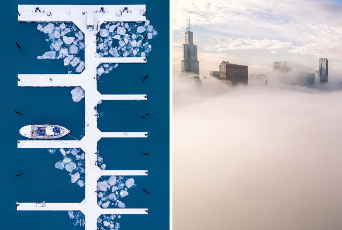 Romanian Photographer Captures Chicago From Above Like You've Never Seen Before