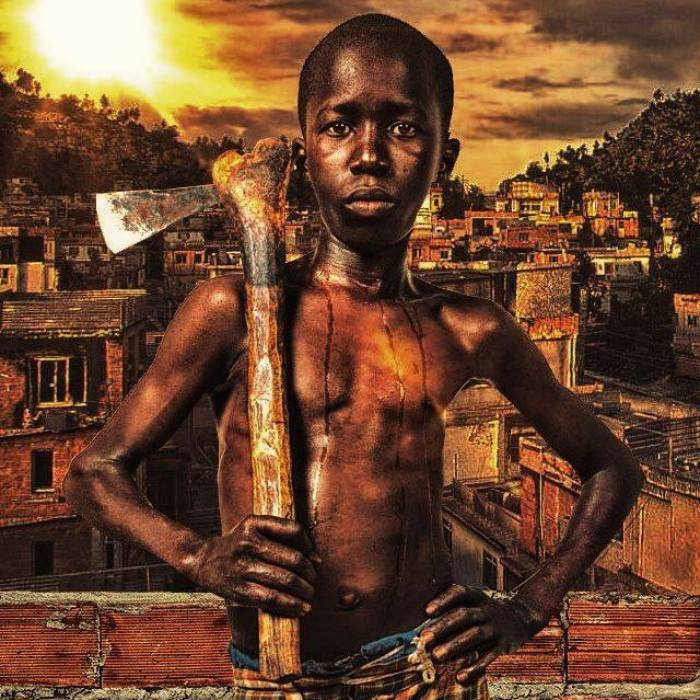 Brazilian Artist Makes Art With The Reality Of Children In The Favelas