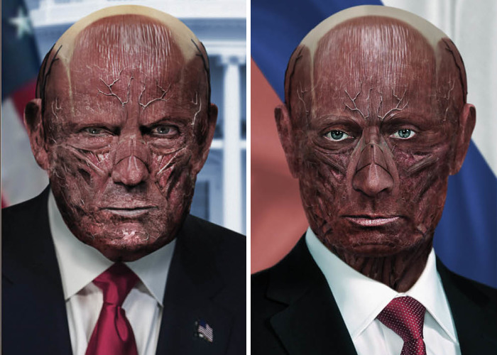 We Removed The Skin From World Leaders' Faces To Look Behind What Separates Us