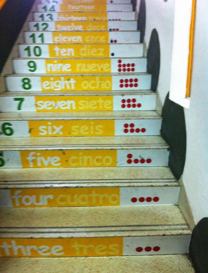 Escaleras para aprender a contar