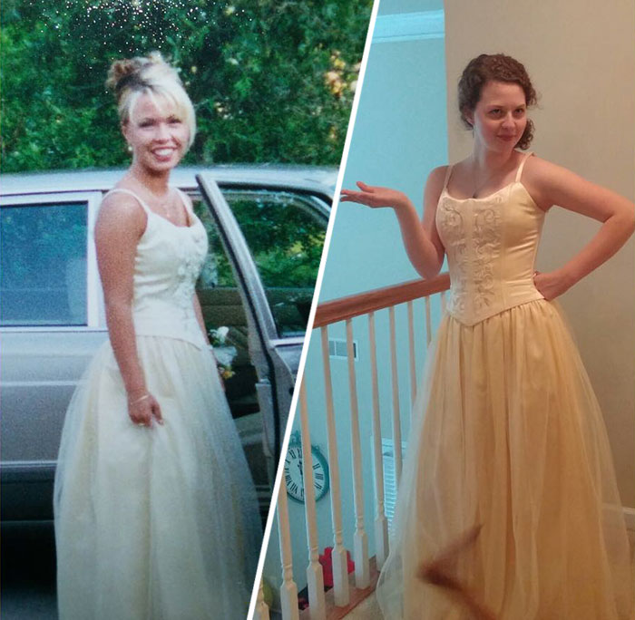 My Oldest Daughter Trying On My Prom Dress A Couple Of Years Ago