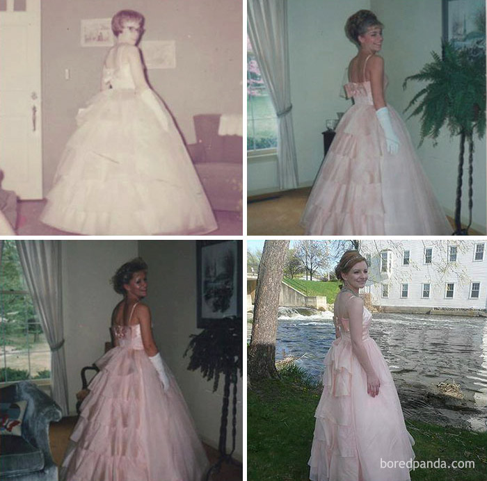 fb9330420b 68 Teens Who Wore Their Moms  Vintage Prom Dresses Decades Later ...