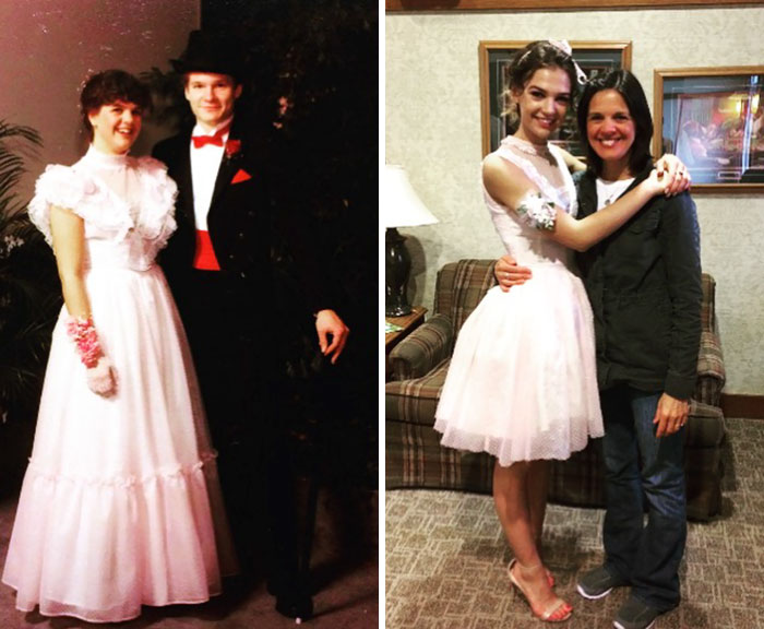 Revamped My Mom's Old Prom Dress And Wore It To My Senior Prom