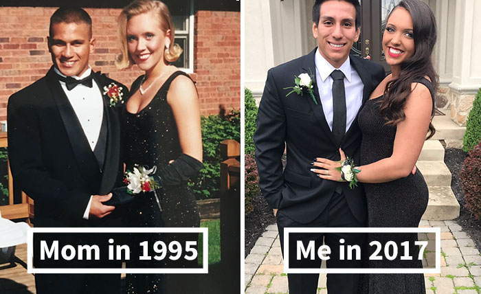 10+ Teens Who Wore Their Moms' Vintage Prom Dresses Decades Later, And Absolutely Killed It
