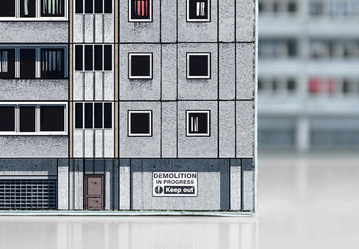 Detail Of The Paper Model: Aylesbury Estate (london) From Brutal London, 2015