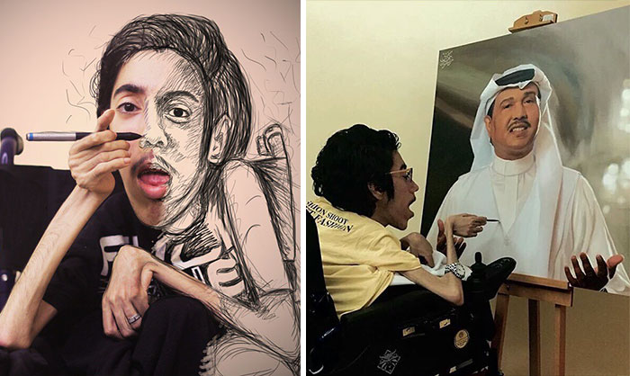 Artist Proves That Disability Is Not A Limit By Creating These Realistic Paintings