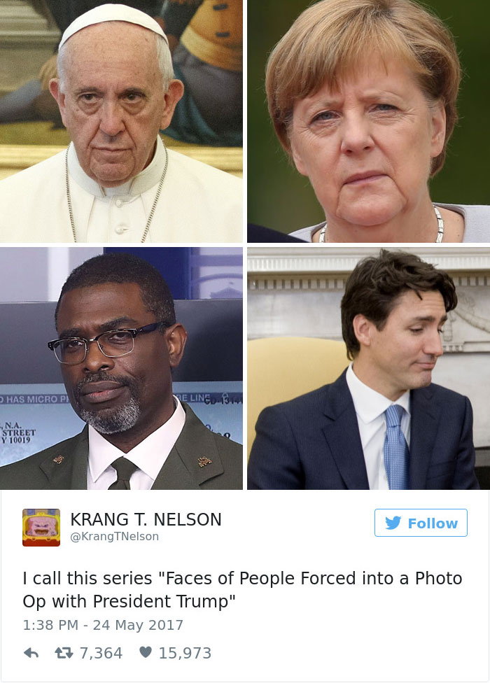 donald trump pope francis memes 15 592693b8669ed__700 10 of the funniest reactions to super sad pope meeting the trumps,Pope Francis Trump Meme